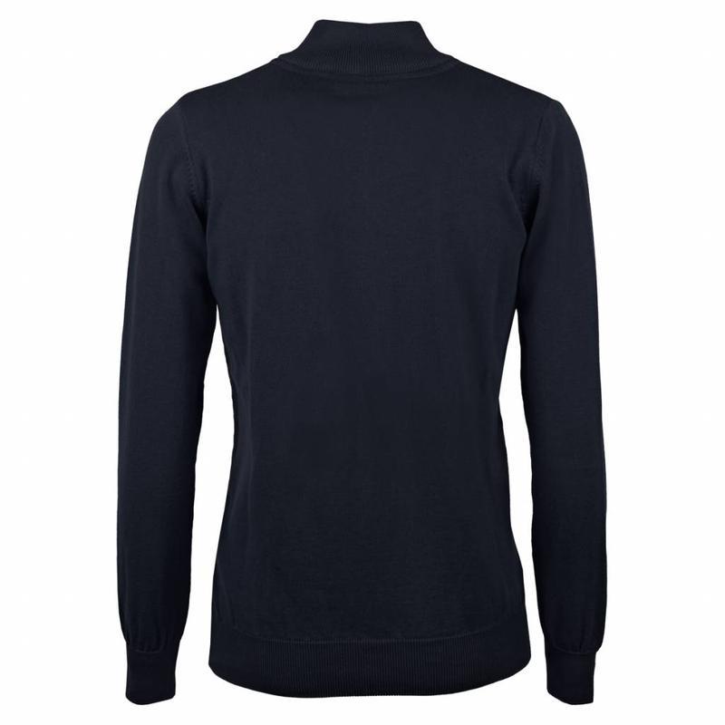 Dames Pullover Half Zip Bellwood Deep Navy