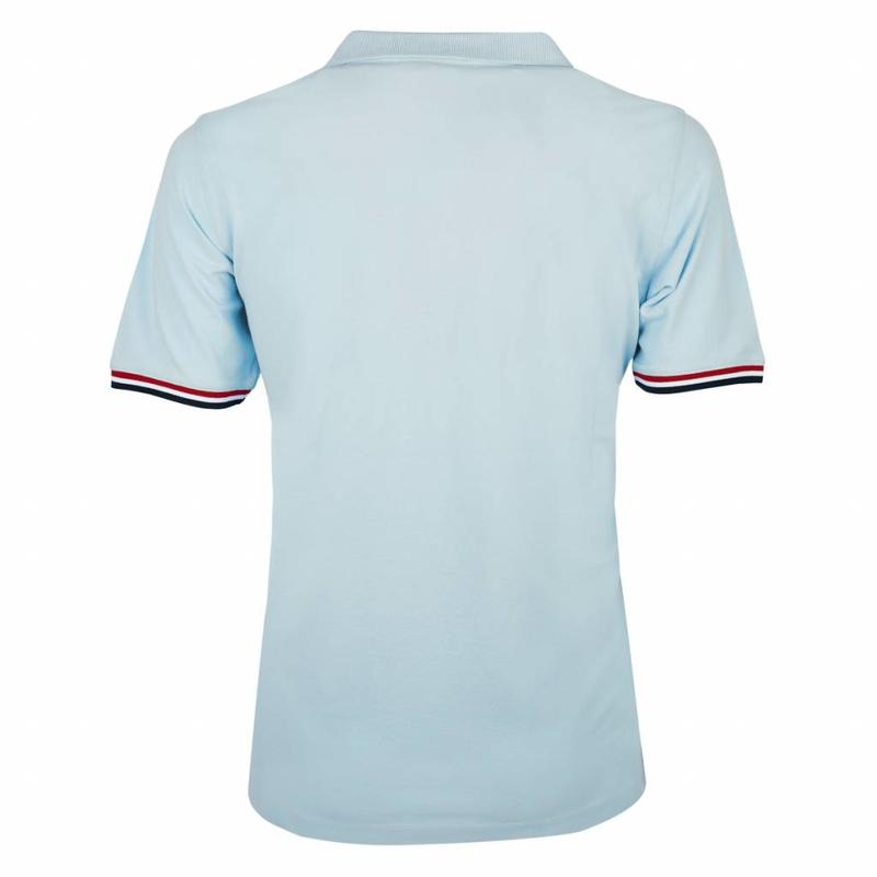 Men's Polo Shirt Bloemendaal Skyway Blue - Orange / Silver