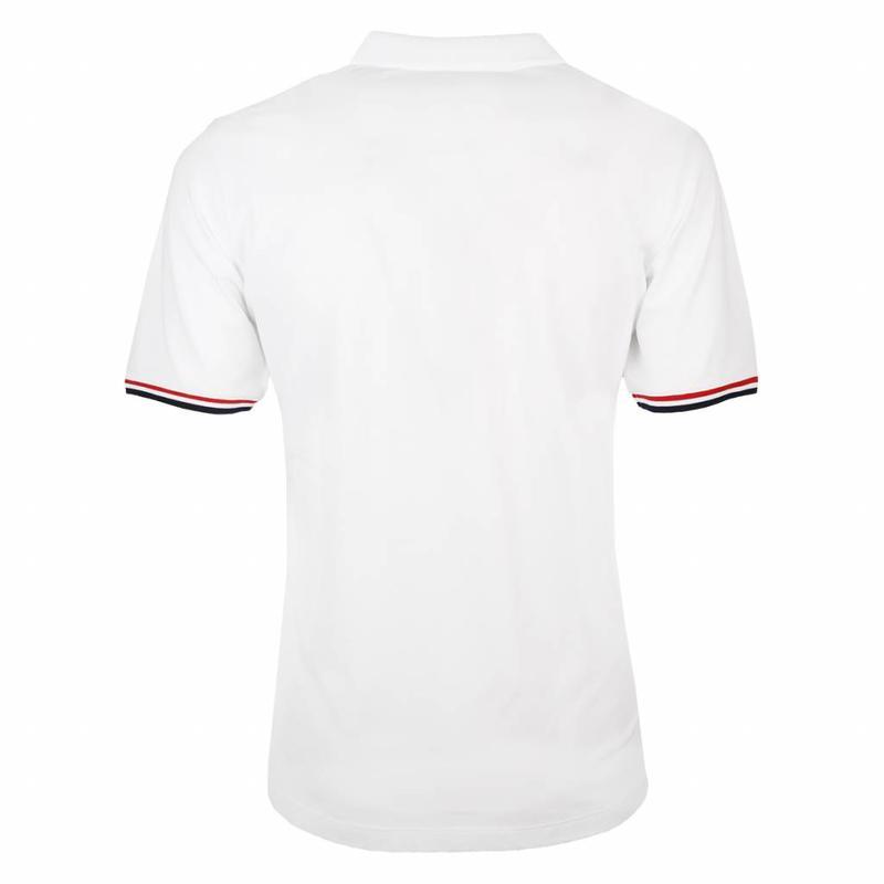 Men's Polo Shirt Bloemendaal White - Deep Navy / Red
