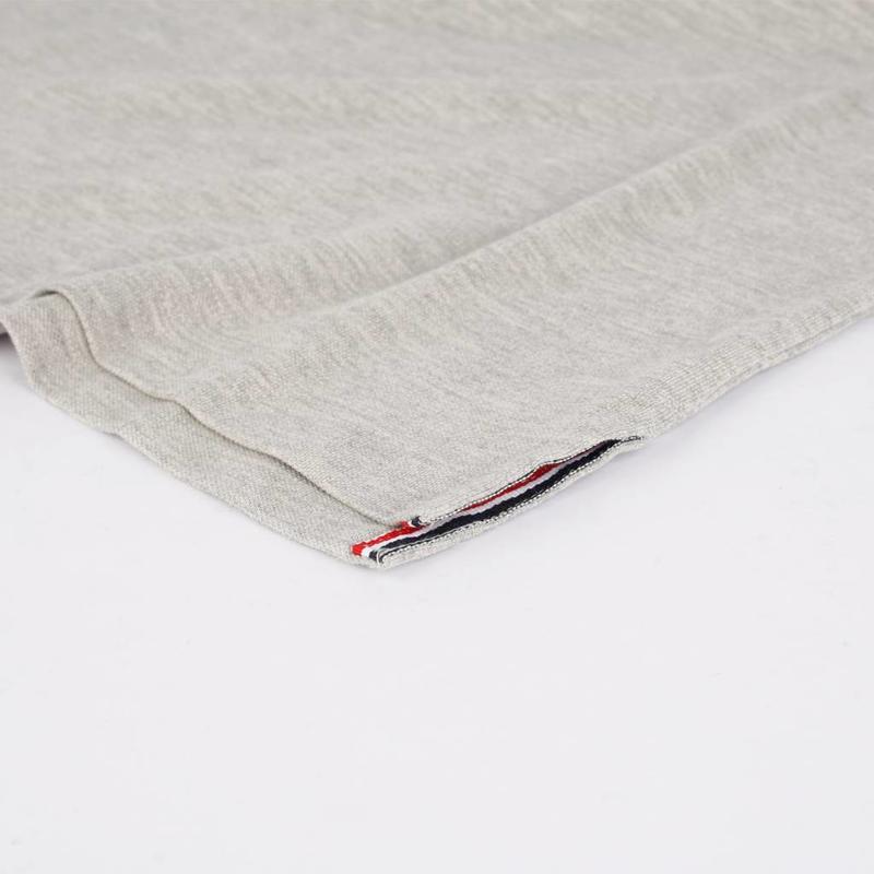 Q1905 Men's Polo Shirt Bloemendaal Grey Melee - Orange / Silver