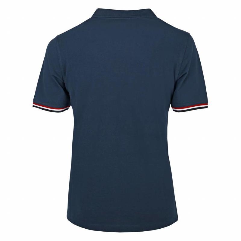 Q1905 Men's Polo Shirt Bloemendaal Denim Blue  - Deep Navy / Lt Blue