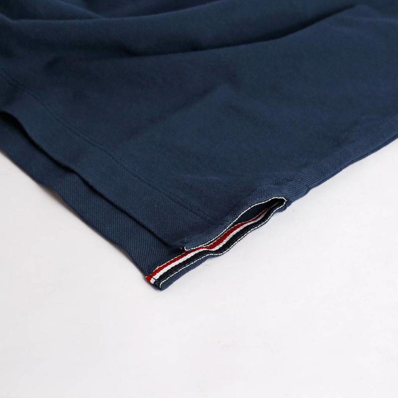 Men's Polo Shirt Bloemendaal Denim Blue  - Orange / Deep Navy