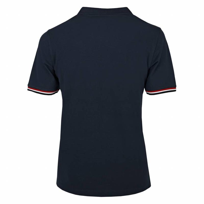 Men's Polo Shirt Bloemendaal Deep Navy - Lightning Pink / Deep Navy