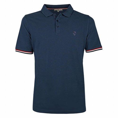 Men's Polo Shirt Bloemendaal Denim Blue  - Deep Navy / Lt Blue