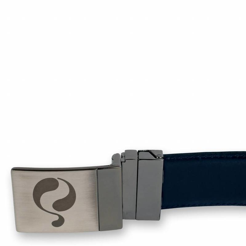 Q1905 Leren Riem Chip Navy / Brown
