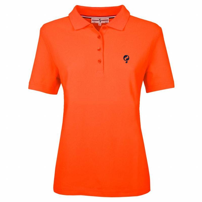 Dames Polo Square Neon Orange