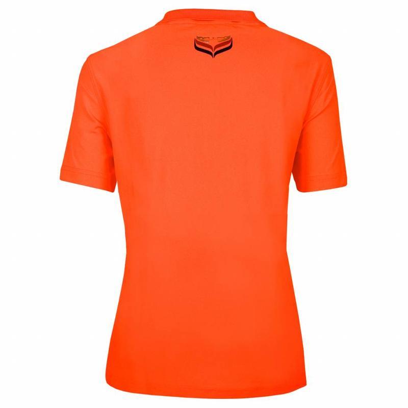 Q1905 Dames Polo Square Neon Orange