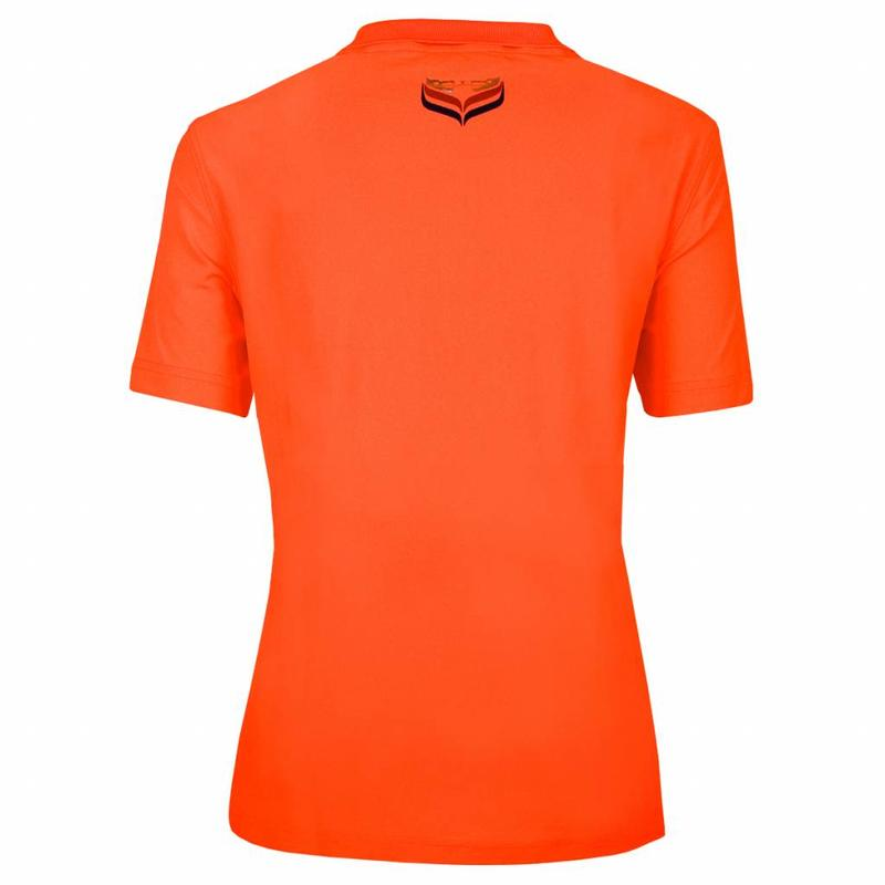 Women's Polo Square Neon Orange
