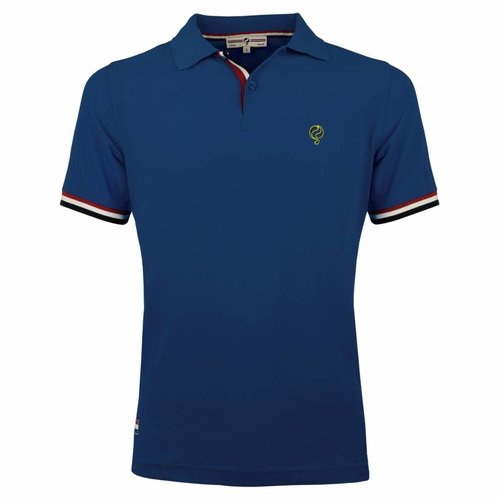 Heren Polo Joost Luiten Denim Blue