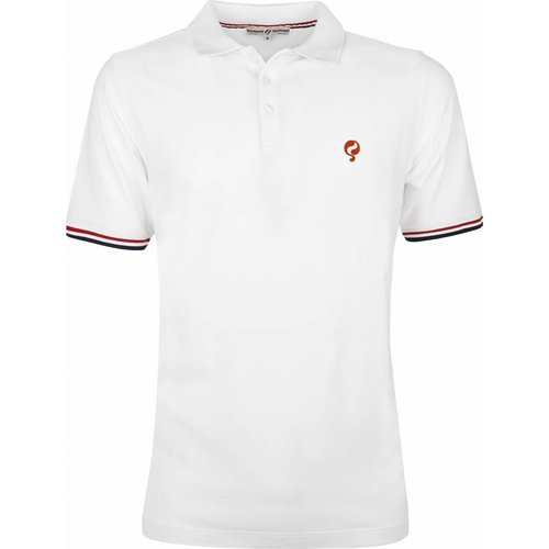 Men's Polo Shirt Bloemendaal White - Orange