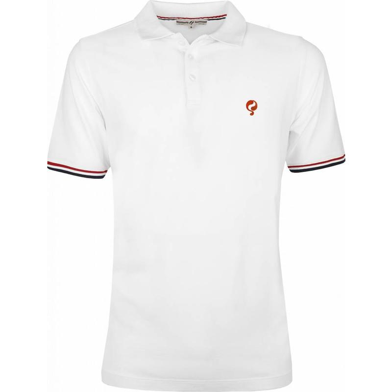 Men's Polo Shirt Bloemendaal White - Orange