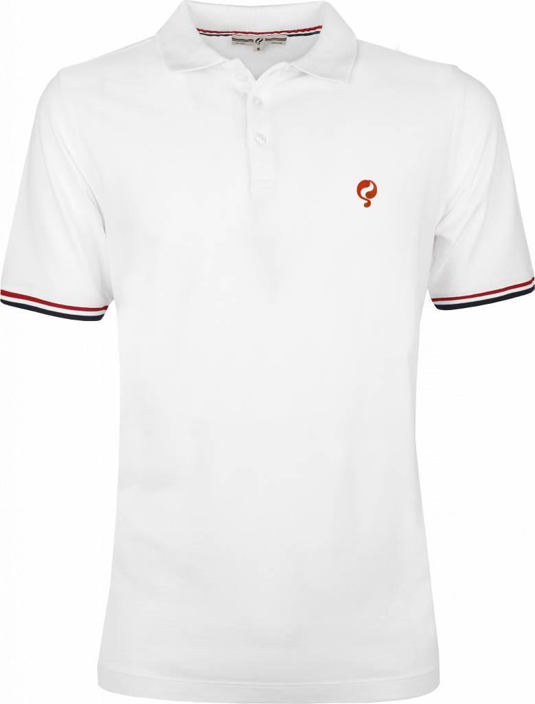 Men S Polo Shirt Bloemendaal White Orange