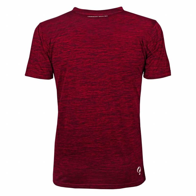Q1905 Heren Trainingsshirt Droste Rood / Zwart