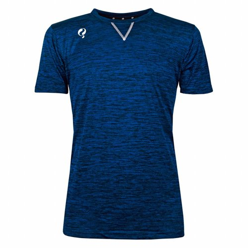 Heren Trainingsshirt Droste Blauw / Zwart