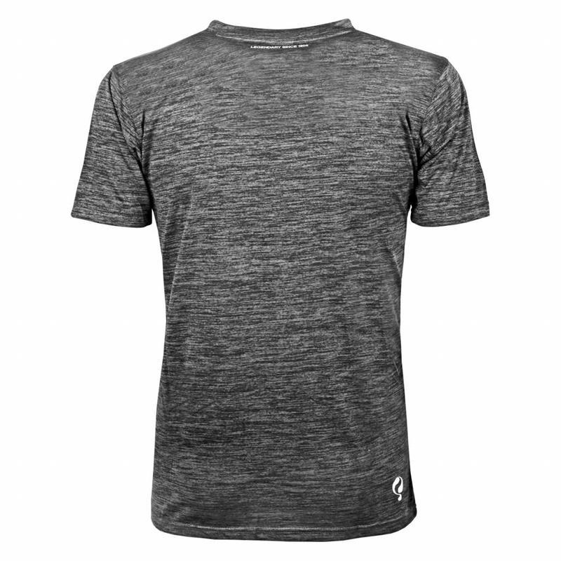 Q1905 Heren Trainingsshirt Droste Grijs / Zwart