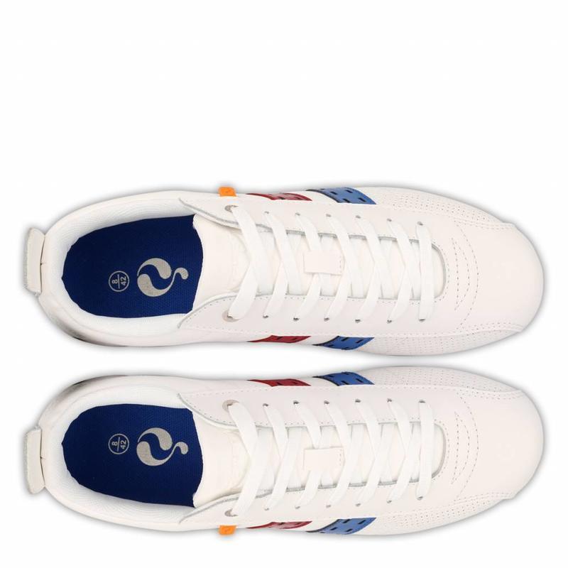 Q1905 Heren Sneaker Typhoon SP White / Red-Skydiver