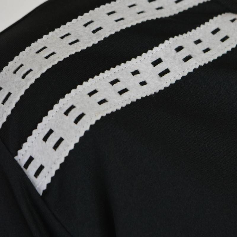 Q1905 Men's Warming-up shirt Ayoub Zwart / Wit