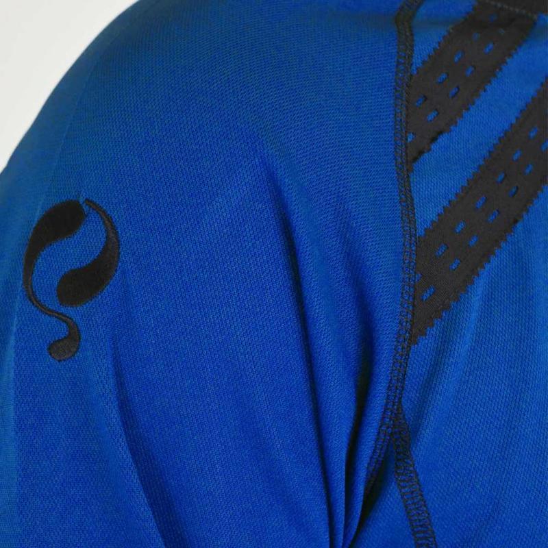 Q1905 Kids Keepersshirt Zoet Blauw / Zwart
