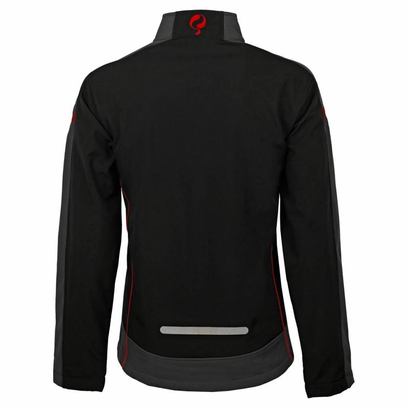 Heren Jacket Kendo Black / Red - Black / Silver