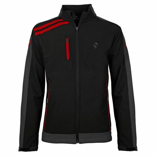 Men's Jacket Kendo Black / Red - Black / Silver