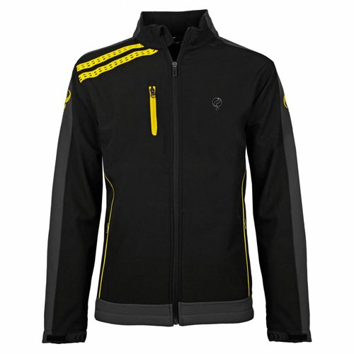 Heren Jacket Kendo Black / Yellow - Black / Silver