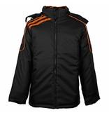 Q1905 Heren Coachjas De Jong Zwart / Oranje