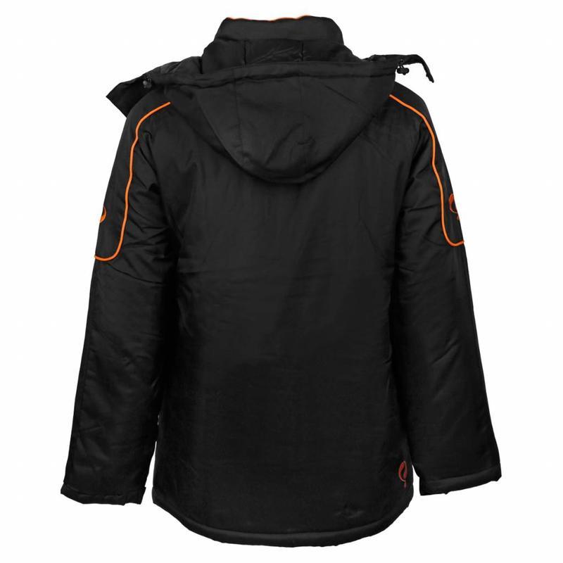 Q1905 Men's Coachjas De Jong Zwart / Oranje