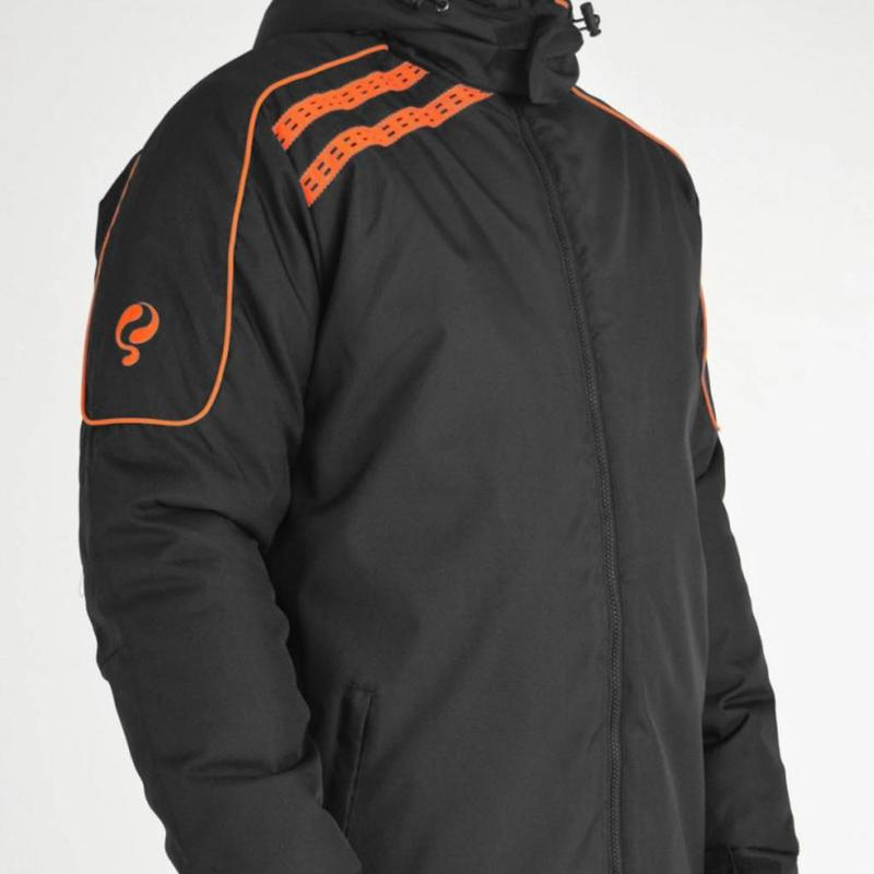 Heren Coachjas De Jong Zwart / Oranje
