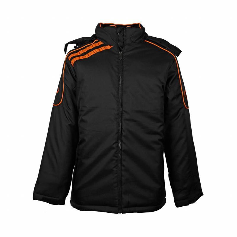 Q1905 Kids Coachjas De Jong Zwart / Oranje