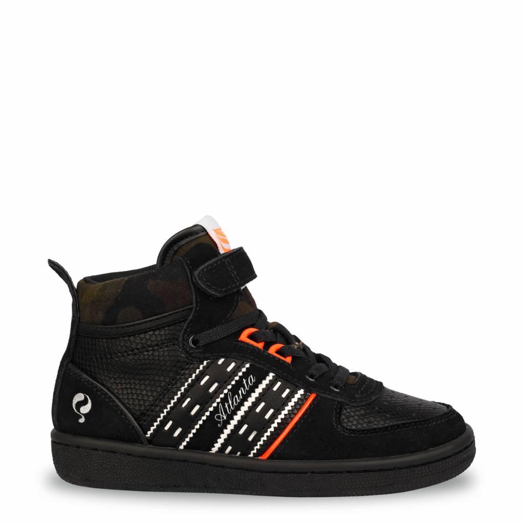 Q1905 Kids Sneaker Atlanta JR Lace Black (36-39)