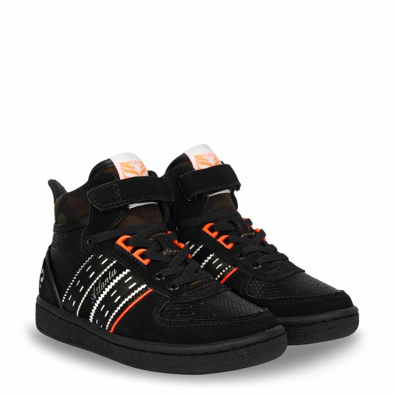 Q1905 Kids Sneaker Atlanta JR Lace Black   (36-39)