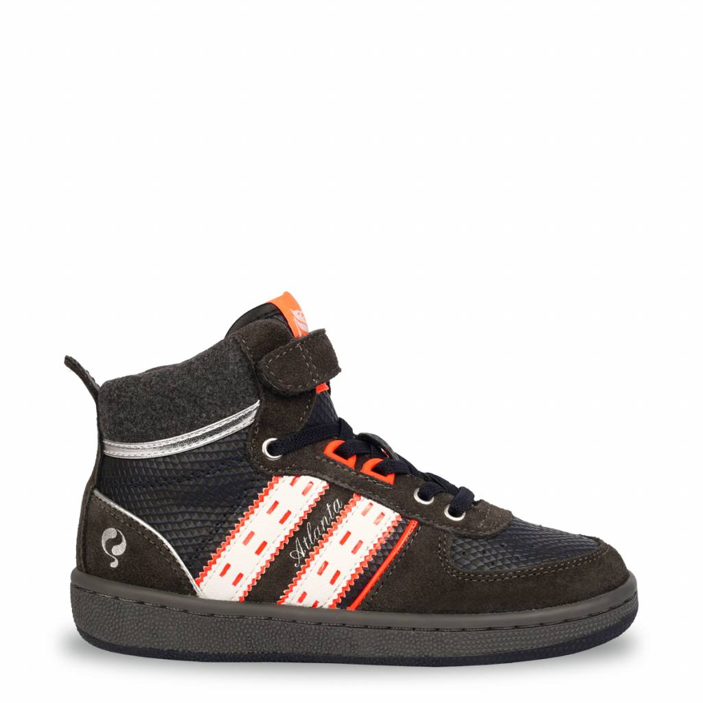 Q1905 Kids Sneaker Atlanta JR Lace Deep Navy - Antracite - White (26-35)