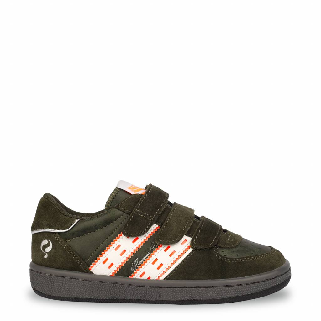 Q1905 Kids Sneaker Maurissen JR Velcro Army Green - White (36-39)