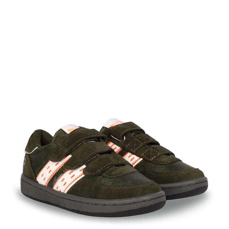 Q1905 Kids Sneaker Maurissen JR Velcro Army Green / White (26-35)