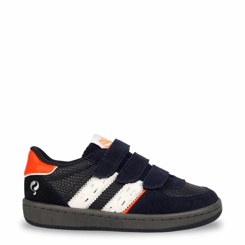 Q1905 Kids Sneaker Maurissen JR Velcro Deep Navy / White (26-35)