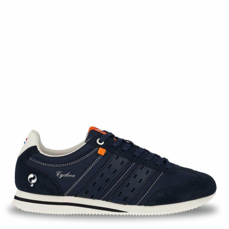 Q1905 Heren Sneaker Cycloon Deep Navy / Cloud Dancer