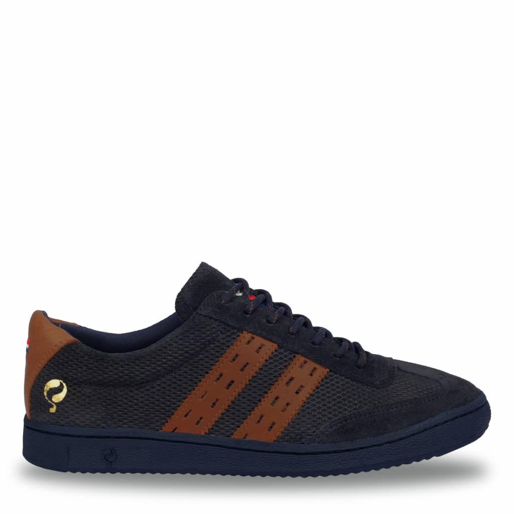 Heren Sneaker Legend'69 Deep Navy / Cognac