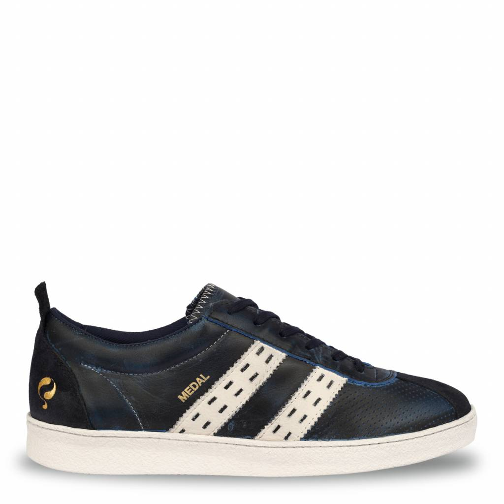 Q1905 Heren Sneaker Medal Deep Navy - Cloud Dancer