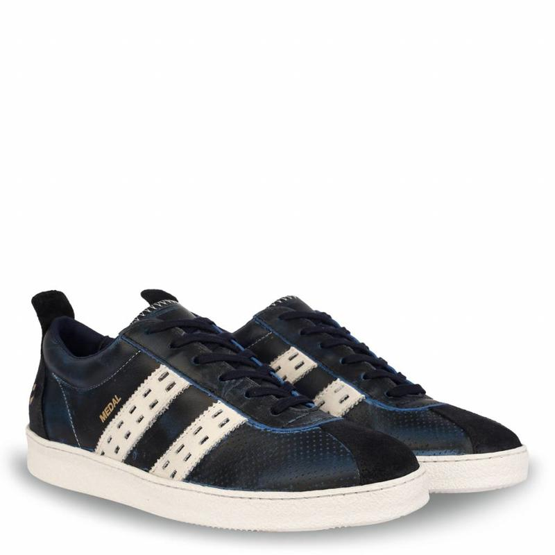 Q1905 Heren Sneaker Medal Deep Navy / Cloud Dancer