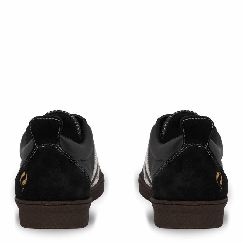 Q1905 Heren Sneaker Medal Black / Cloud Dancer / Crepe