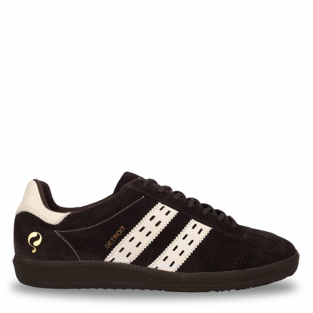 Q1905 Heren Sneaker Detroit Dk Brown - Cloud Dancer
