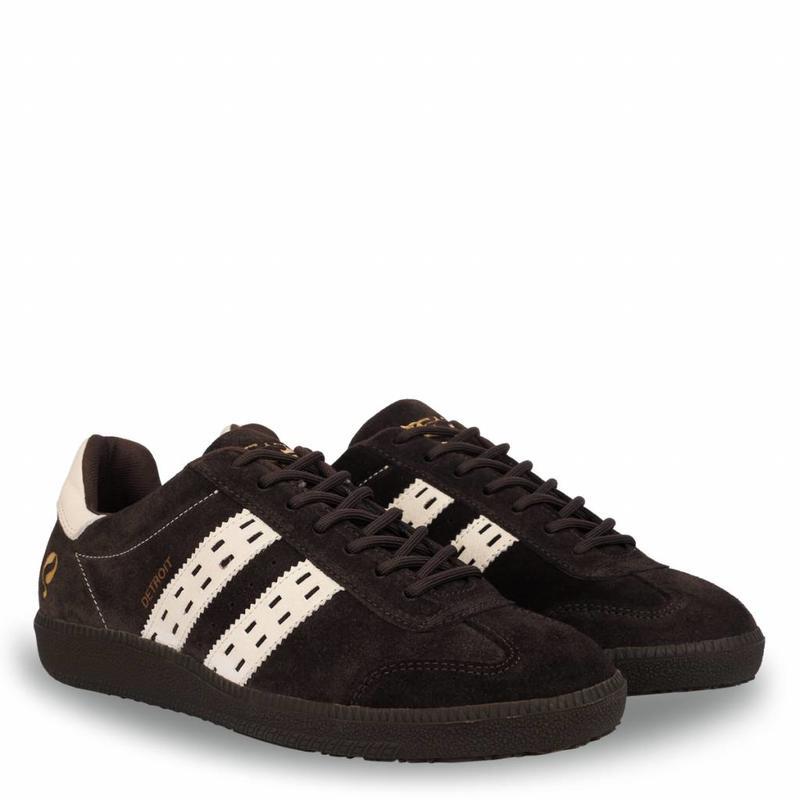 Q1905 Heren Sneaker Detroit Dk Brown / Cloud Dancer
