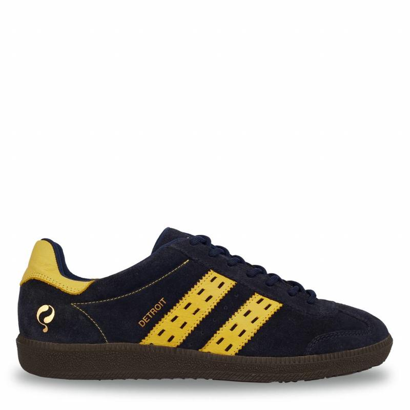 Heren Sneaker Detroit Deep Navy / Ochre Yellow