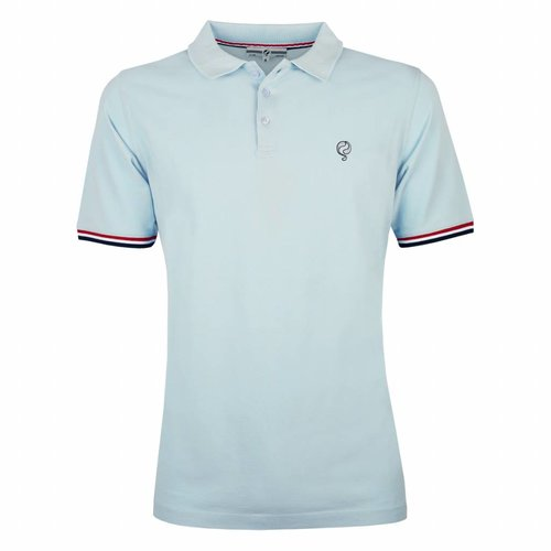 Men's Polo Shirt Bloemendaal Skyway Blue - Silver / Deep Navy