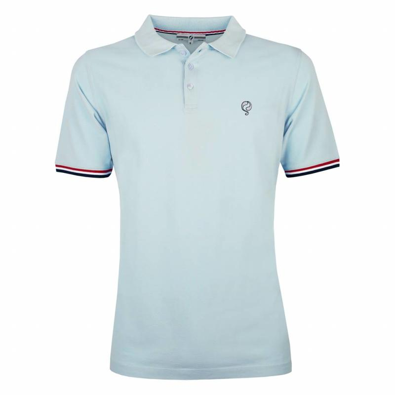 Q1905 Men's Polo Shirt Bloemendaal Skyway Blue - Silver / Deep Navy