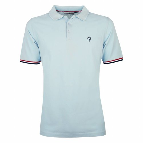Men's Polo Shirt Bloemendaal Skyway Blue - Deep Navy / Lt Blue