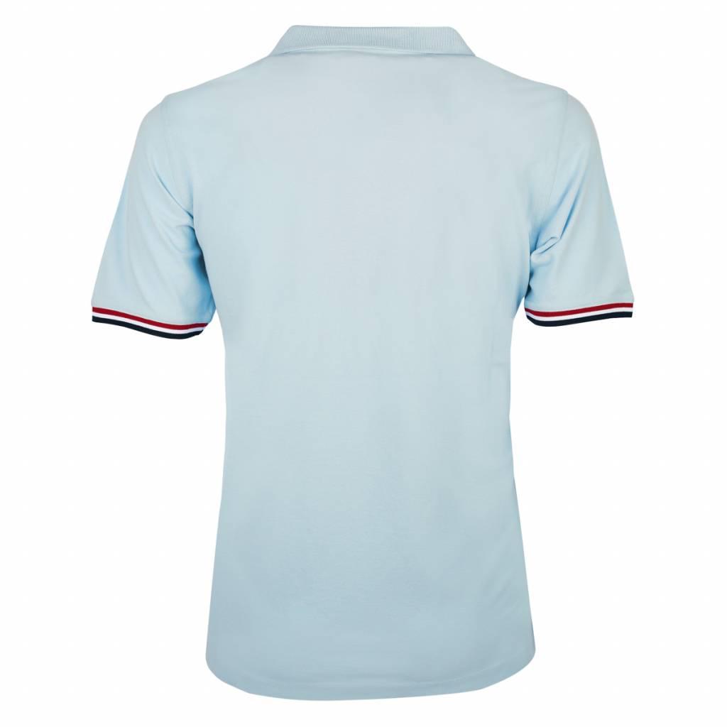 Mens Polo Shirt Bloemendaal Skyway Blue Deep Navy Lt Blue