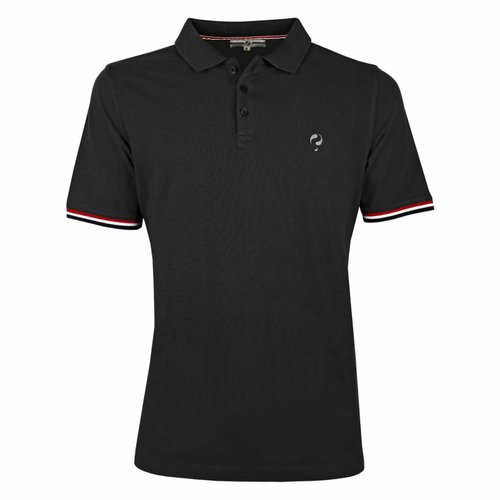 Men's Polo Shirt Bloemendaal Black - Silver / Black