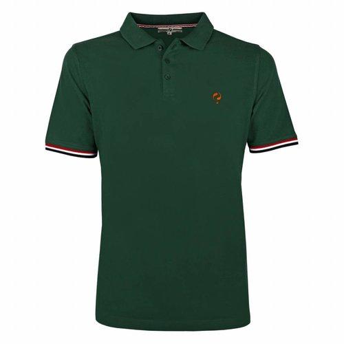 Men's Polo Shirt Bloemendaal Dk Green - Orange / Dk Green