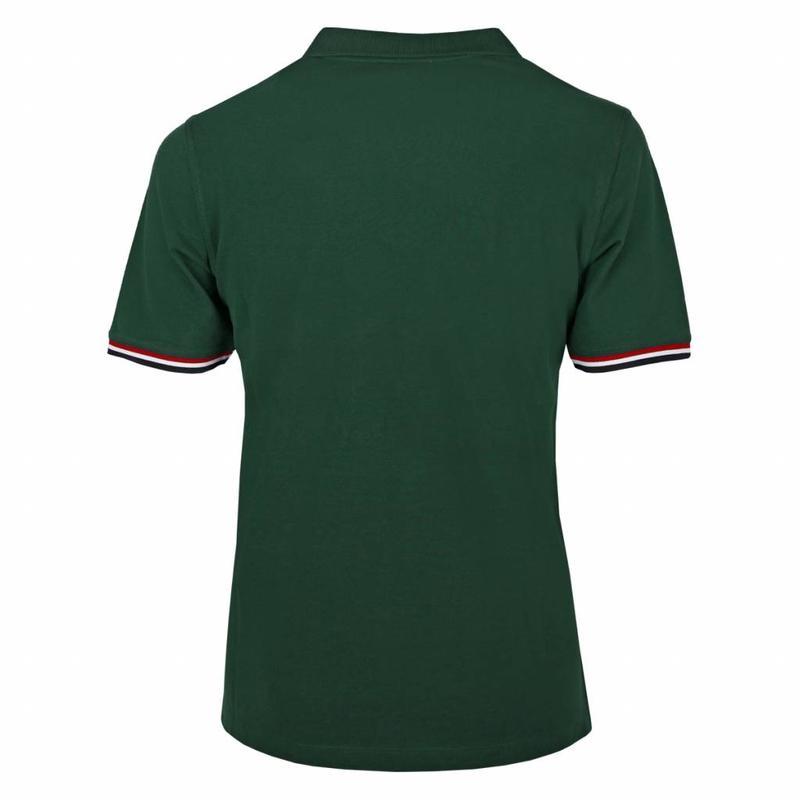 Q1905 Men's Polo Shirt Bloemendaal Dk Green - Orange / Dk Green